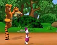 Tiggers hindernislauf Micimackó rajzfilm játékok